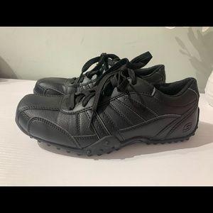 Skechers work memory foam black sneakers